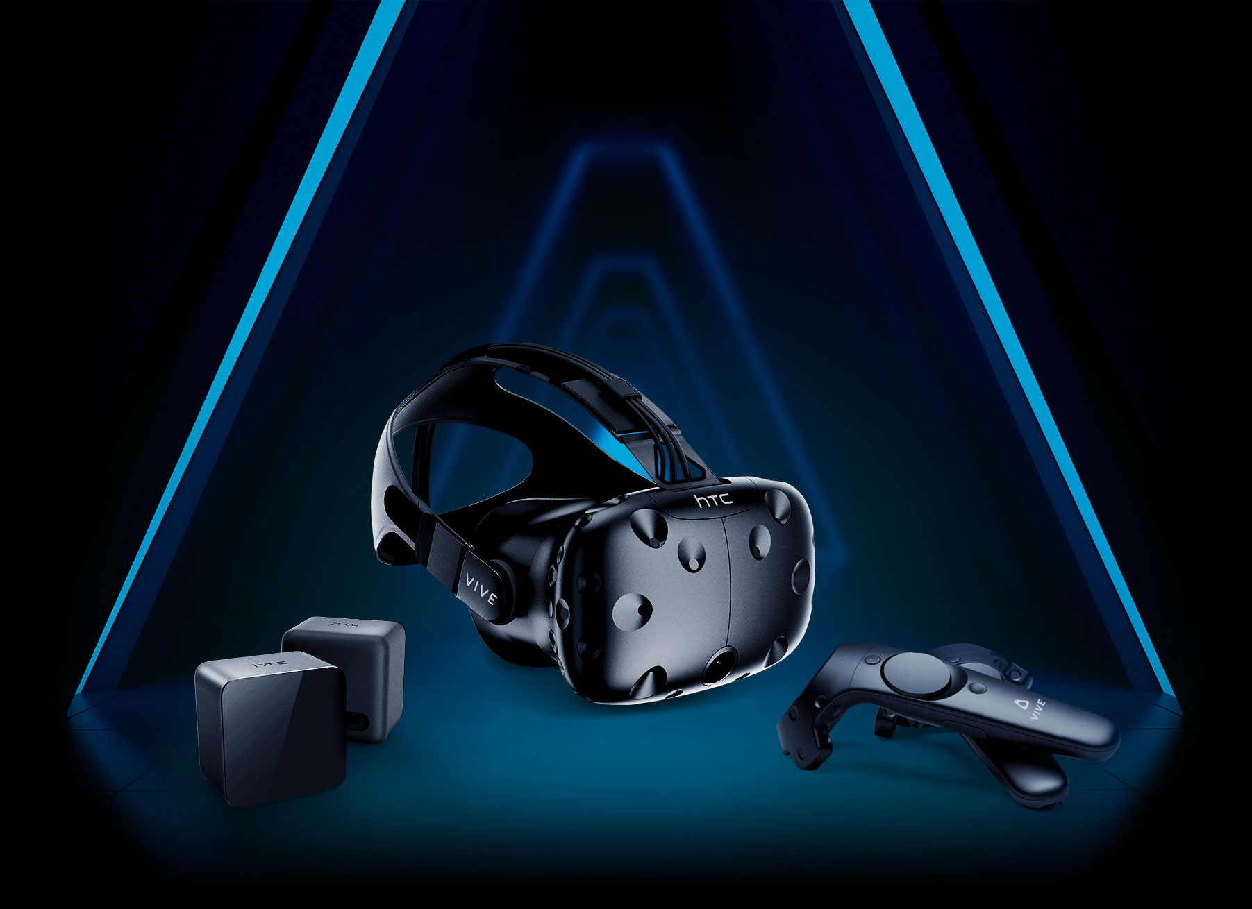 VIVE Headset, Base Stations, and Controllers