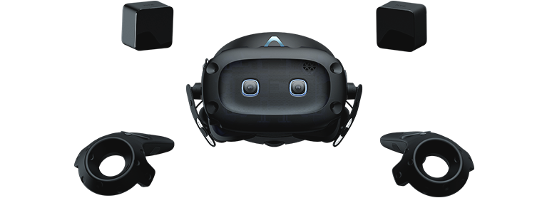 VIVE Cosmos Elite VR headset with 2 base stations and 2 controllers. SteamVRTM Tracking.