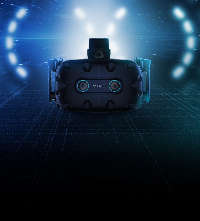 vive pro eye with blue background
